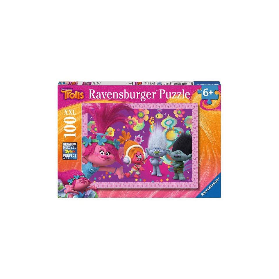 Ravensburger Puzzle 100 Teile Trolls Haarige Abenteuer