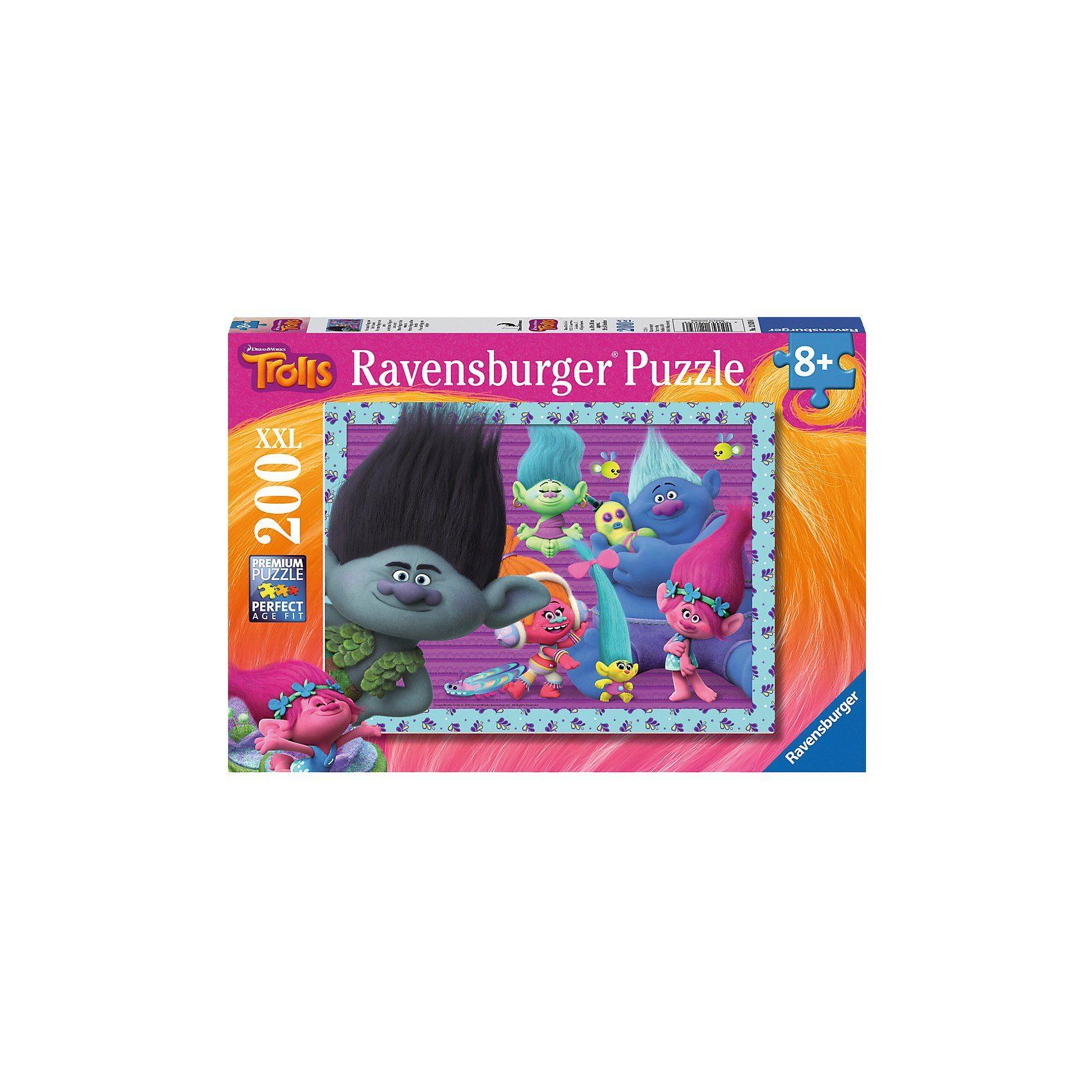Ravensburger Puzzle 200 Teile Trolls Prinzessin Poppy und ihre Freunde