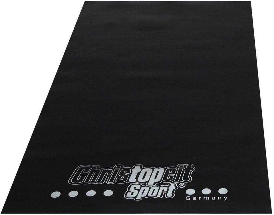 Christopeit Sport® Bodenschutzmatte in schwarz