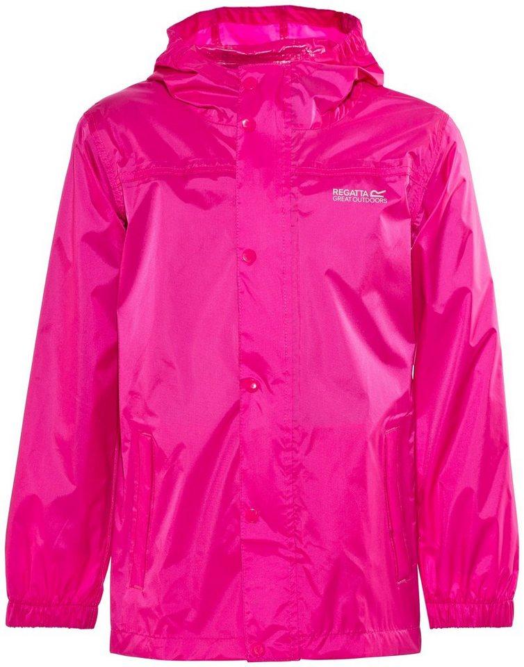 Regatta Outdoorjacke »Pack-It II Rain Jacket Kids« in pink