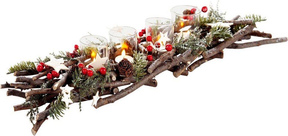 leuchterleiste weihnachtsliches windlicht online kaufen. Black Bedroom Furniture Sets. Home Design Ideas