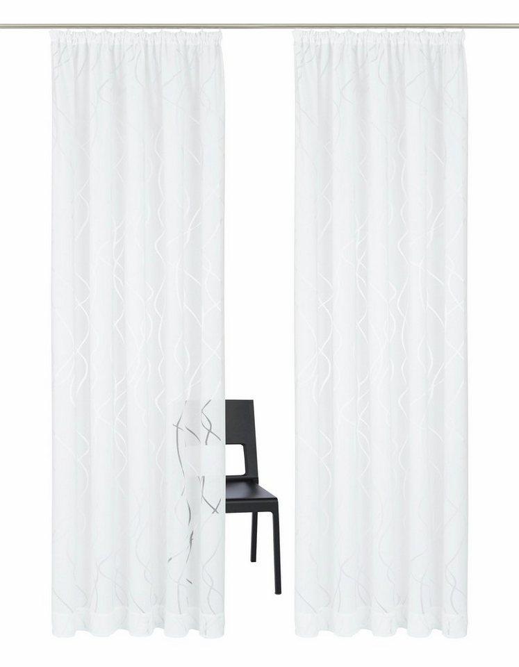 gardine my home selection baluba mit kr uselband 2. Black Bedroom Furniture Sets. Home Design Ideas