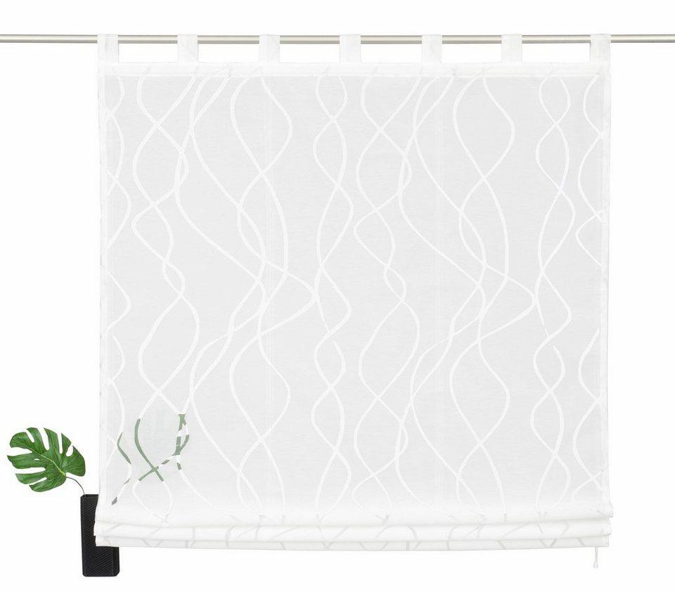raffrollo my home selection baluba mit schlaufen. Black Bedroom Furniture Sets. Home Design Ideas