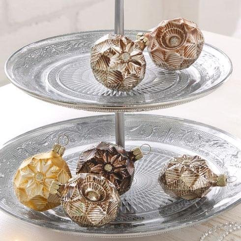 Th ringer glasdesign set tgs christbaumschmuck medallions for Weihnachtskugeln cappuccino