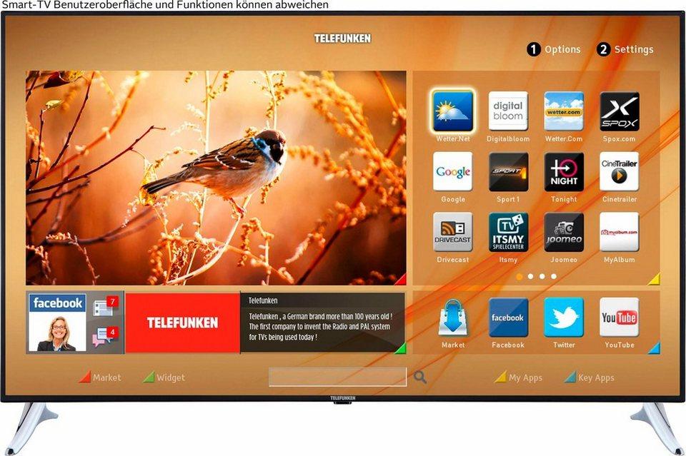 Telefunken L65U549M4CW, LED Fernseher, 165 cm (65 Zoll), 2160p (4K Ultra HD), Smart-TV in silberfarben/schwarz