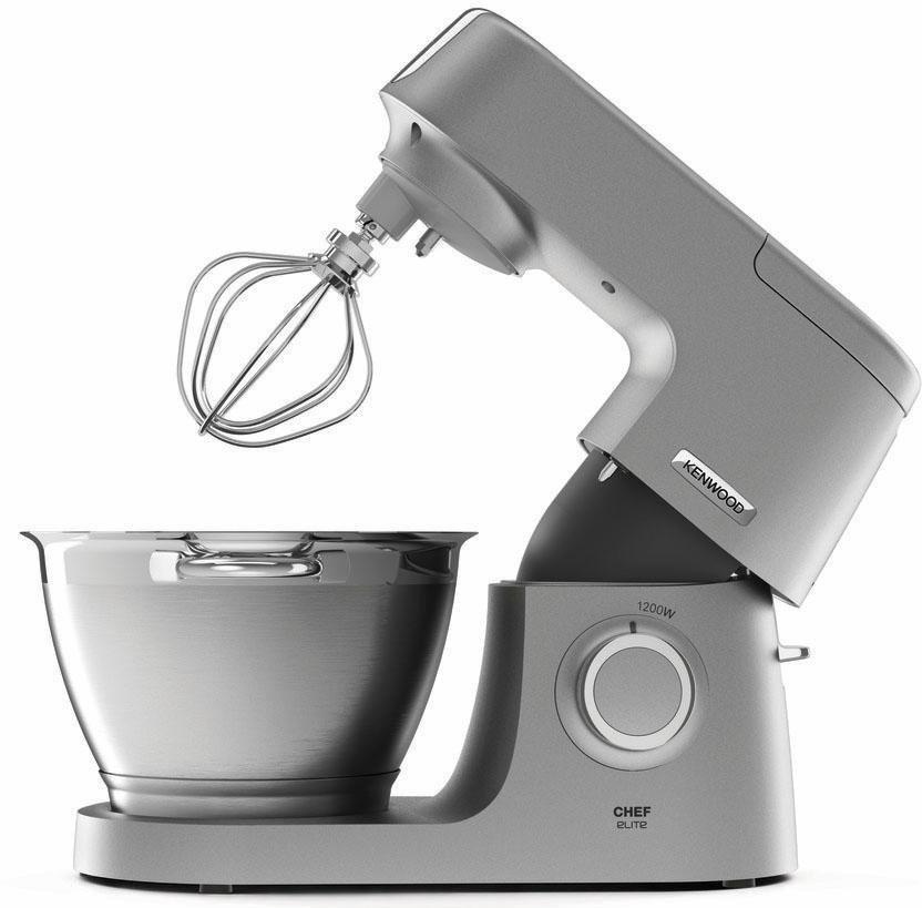 Kenwood Küchenmaschine Chef Elite KVC5320S + Zubehörpaket im Wert von UVP € 419,96, 4,6 Liter in grau