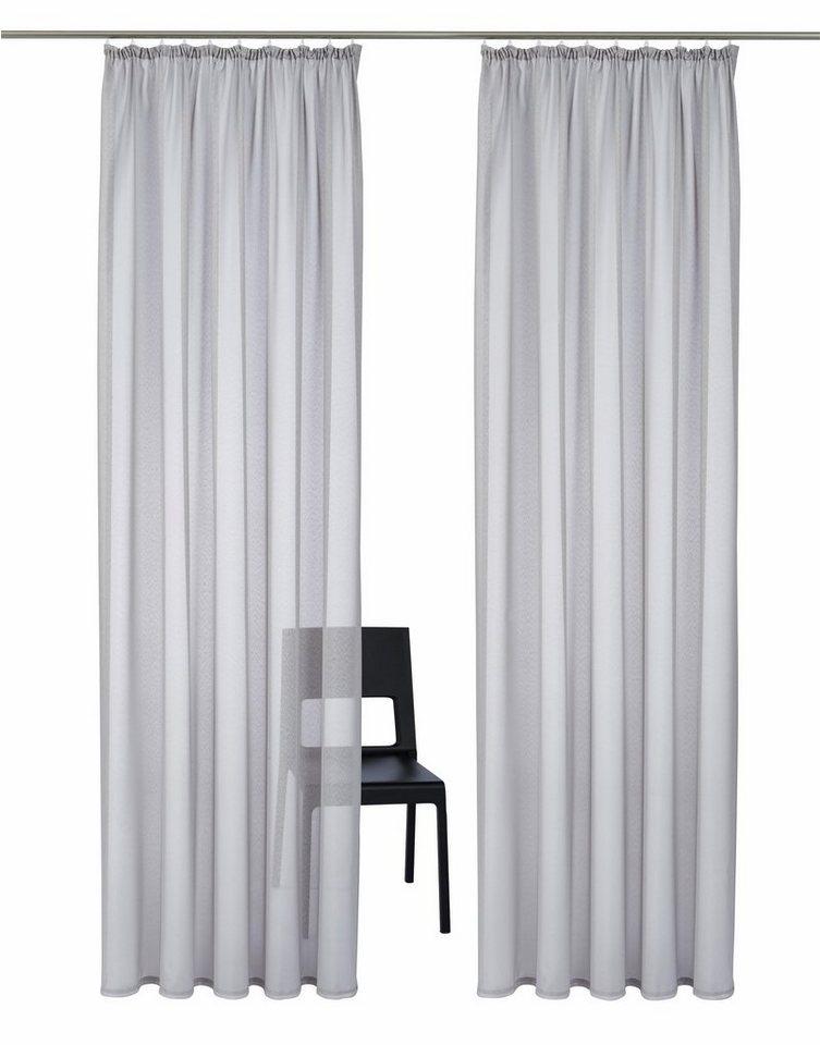 gardine my home freiburg mit kr uselband 2 st ck. Black Bedroom Furniture Sets. Home Design Ideas