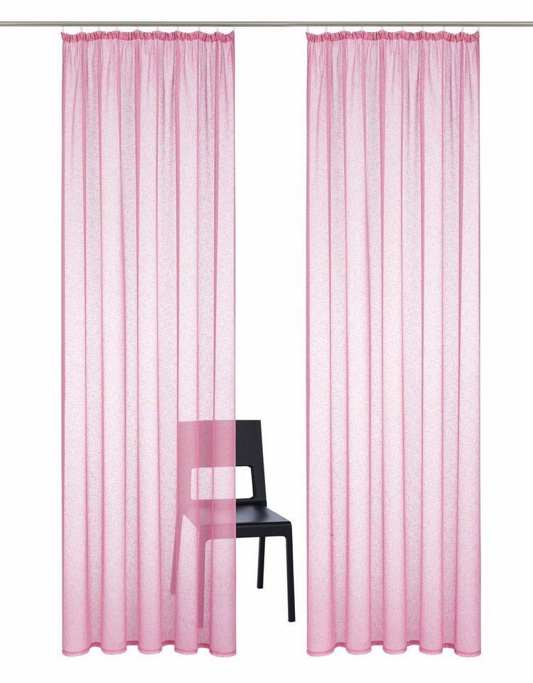 gardine home affaire collection hannah uni mit kr uselband 2 st ck online kaufen otto. Black Bedroom Furniture Sets. Home Design Ideas