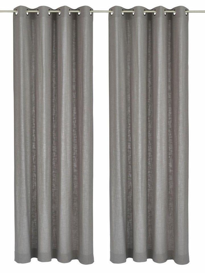Vorhang, my home, »Surat«, mit Ösen (2 Stück) in grau