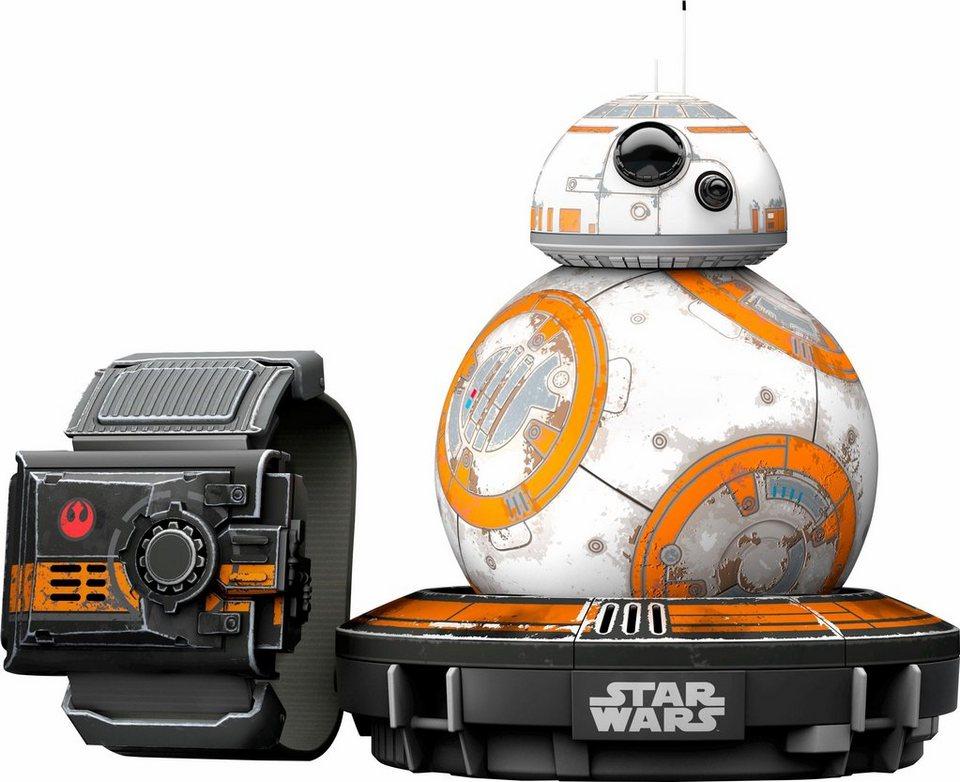 Sphero Drohne BB-8 Battleworn Droide und Force Band in weiß/schwarz/orange