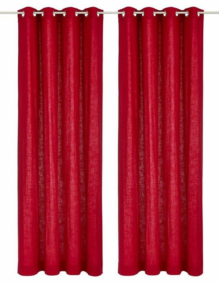 Vorhang, my home, »Surat«, mit Ösen (2 Stück) in dunkelrot