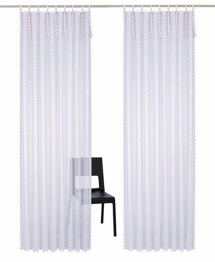 Gardine »Hannah«, Home affaire, Schlaufen (2 Stück), Vorhang, Fertiggardine, transparent