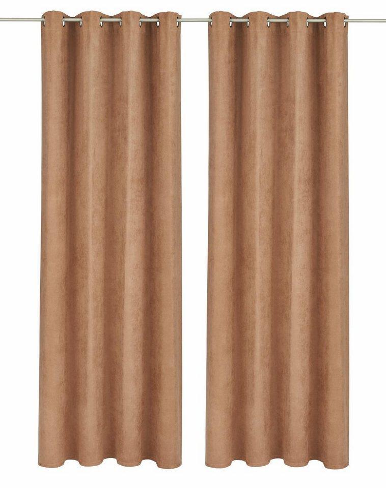Vorhang, bruno banani, »Aland«, mit Ösen (2 Stück) in camel