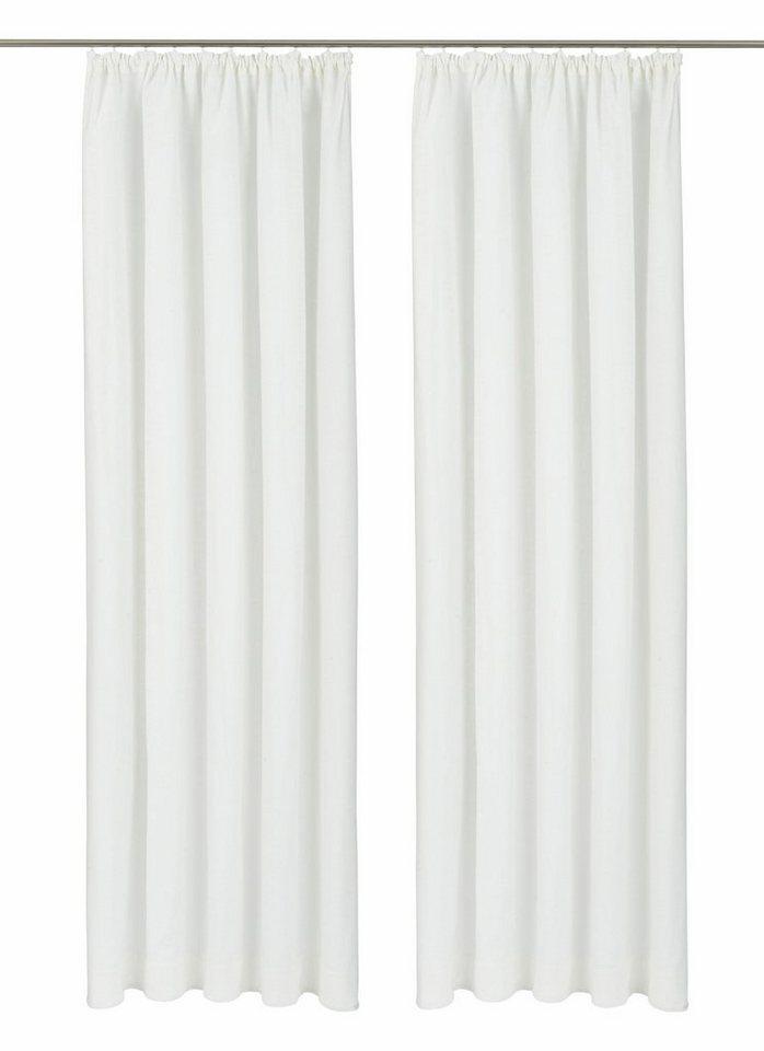 Vorhang, my home, »Surat«, mit Kräuselband (2 Stück) in weiß