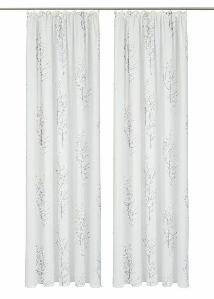 Vorhang, Home affaire Collection, »Felda«, mit Kräuselband (2 Stück) in taupe-grau