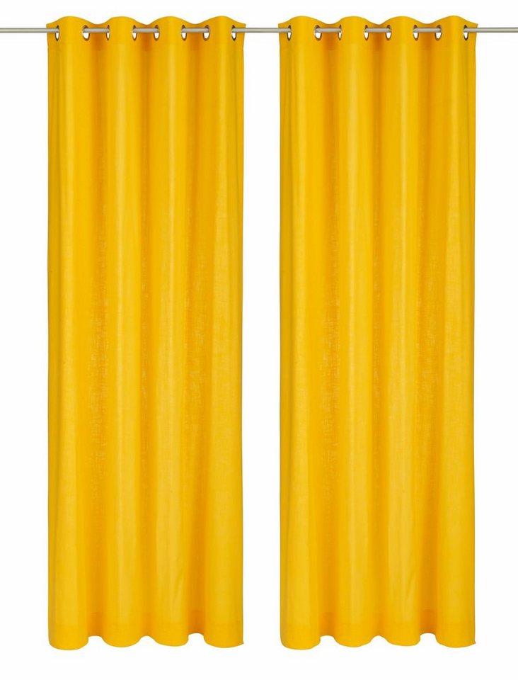 Vorhang, my home, »Surat«, mit Ösen (2 Stück) in gelb
