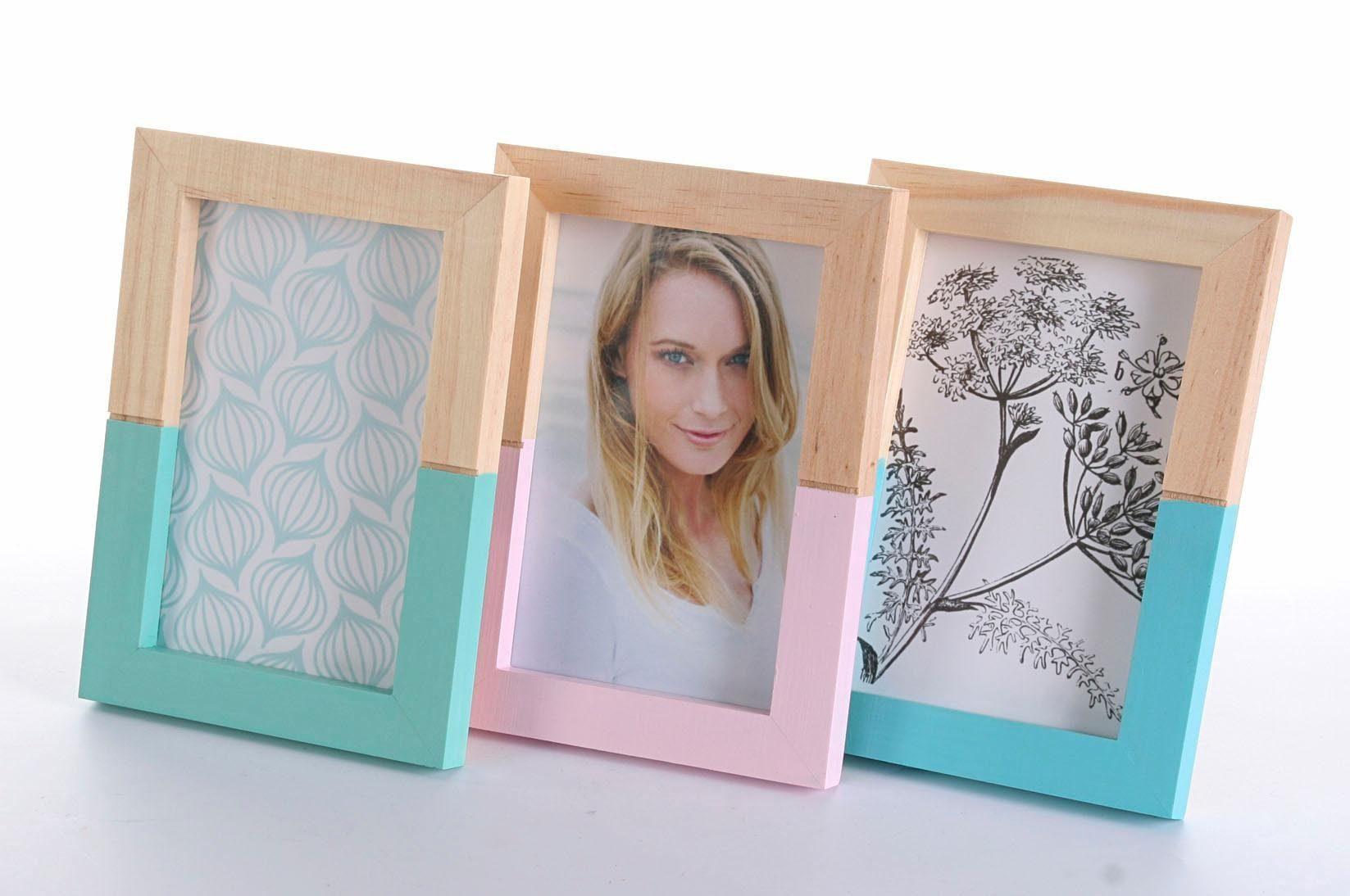 Home affaire Holz-Portraitrahmen »pure living« (3er Set)