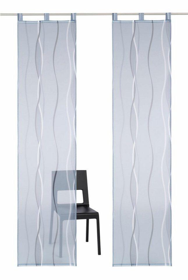 schiebegardine my home dimona mit schlaufen 2 st ck. Black Bedroom Furniture Sets. Home Design Ideas