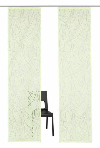 Schiebegardine »Baruni«, my home Selection, Klettband (2 Stück), ohne Montagezubehör