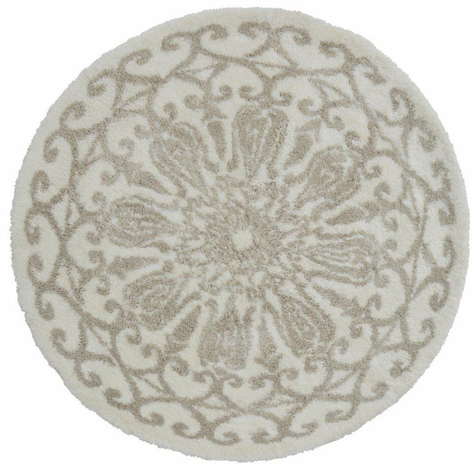 Designer-Teppich, rund, GMK Home & Living, »Lori«, getuftet in natur / gold