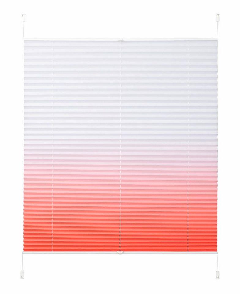 Plissee, My Home Selection, »Color«, Faltenstore, Lichtschutz, Fixmaß, ohne Bohren in apricot