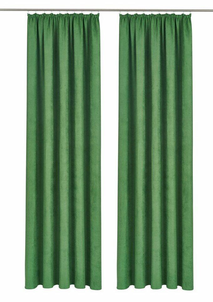 Vorhang, bruno banani, »Aland«, mit Kräuselband (2 Stück) in grün