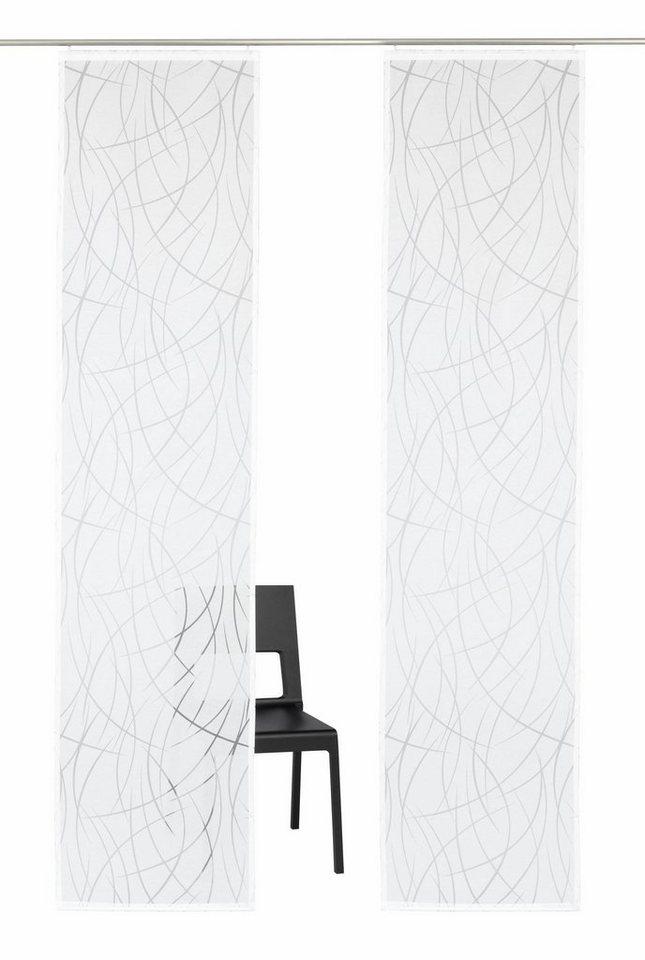 Schiebegardine, My Home Selection, »Baruni«, mit Klettband (2 Stück ohne Zubehör) in weiß