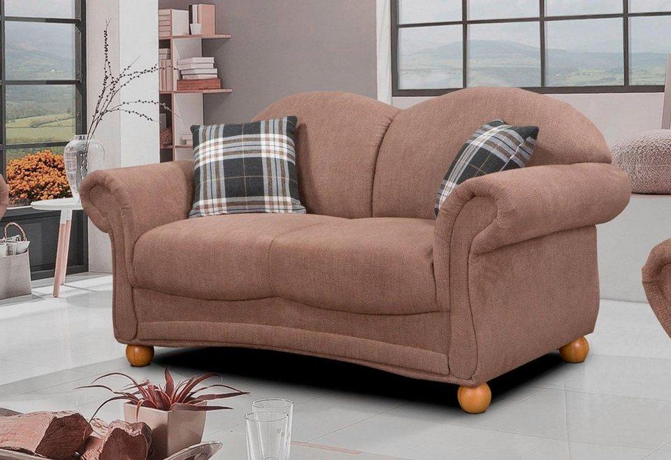 home affaire 2 sitzer florenz im retrostyle mit holzf en online kaufen otto. Black Bedroom Furniture Sets. Home Design Ideas