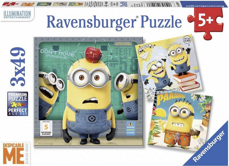 Ravensburger Puzzle, 3x49 Teile, »Minions, Despicable Me«