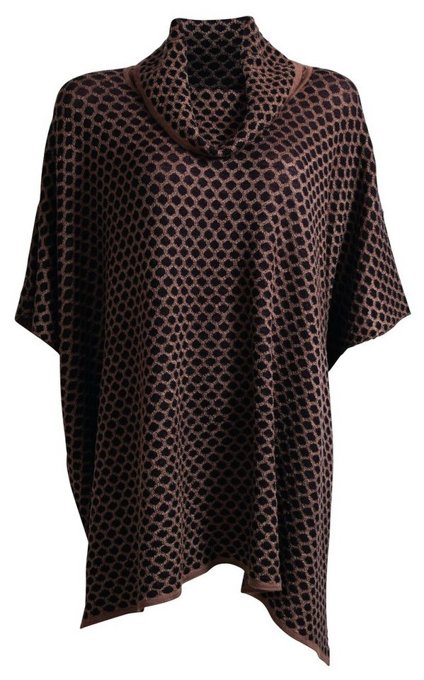 Signature Strickcape in camelfarben