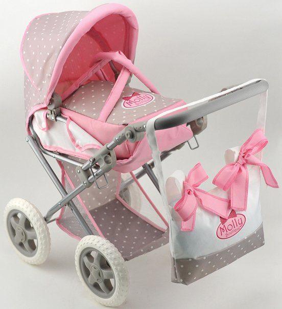 Dimian Kombipuppenwagen, »Bambolina Boutique Puppenwagen mit Handtasche«
