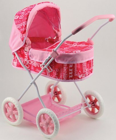 Dimian Puppenwagen, »Bambolina Puppenwagen Roma« in pink/rosa/weiß