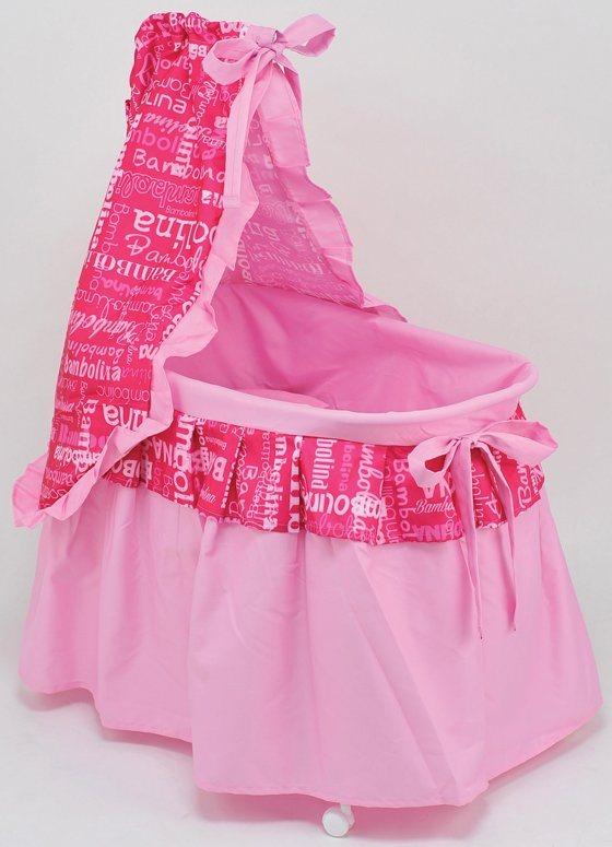 Dimian Puppenbett, »Bambolina Marbella Bett« in pink/weiß