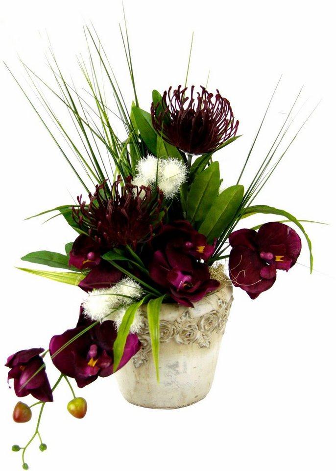 Home affaire Kunstblume »Orchidee« in burgund