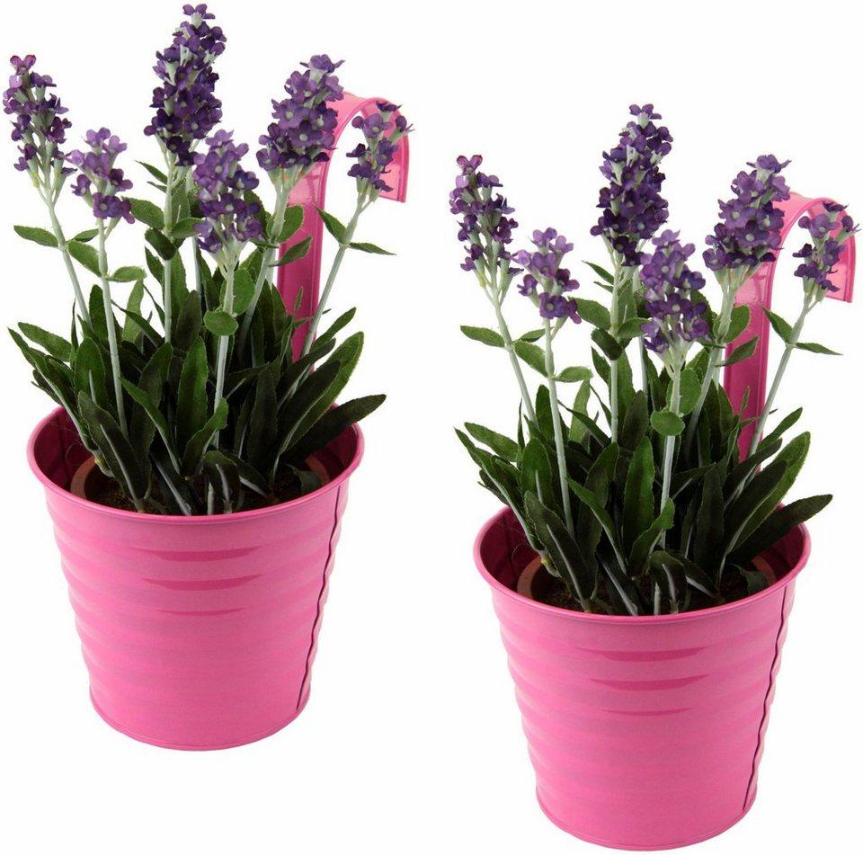 Home affaire Kunstblume »Lavendel« im Metll-Topf (2 Stck.) in violett