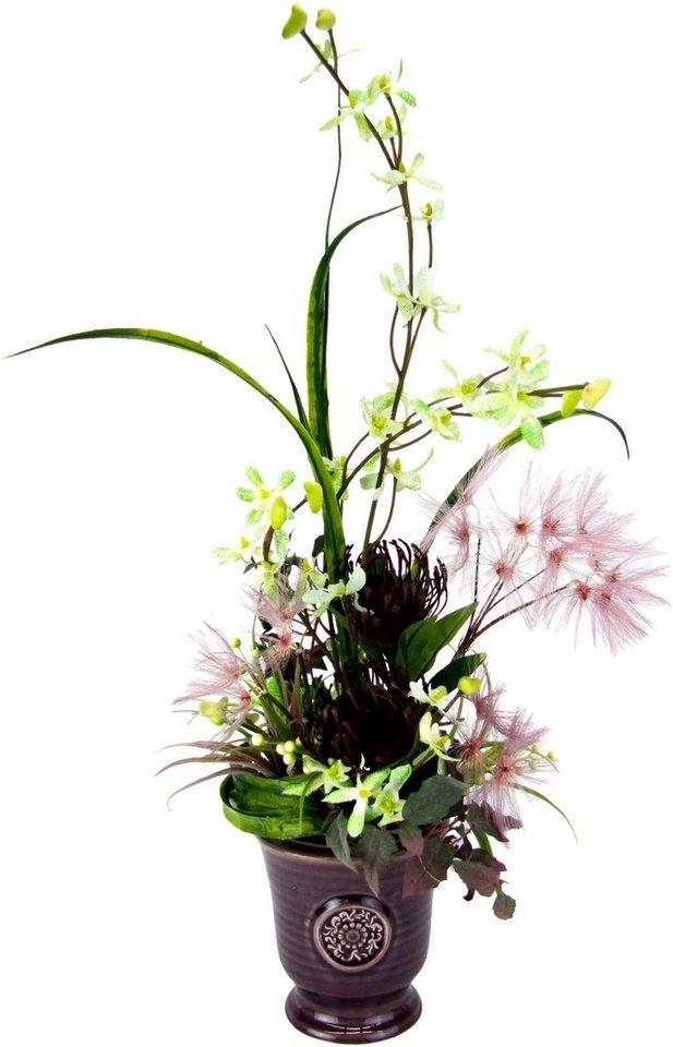 Home affaire Kunstblume »Orchidee/Protea« in burgund