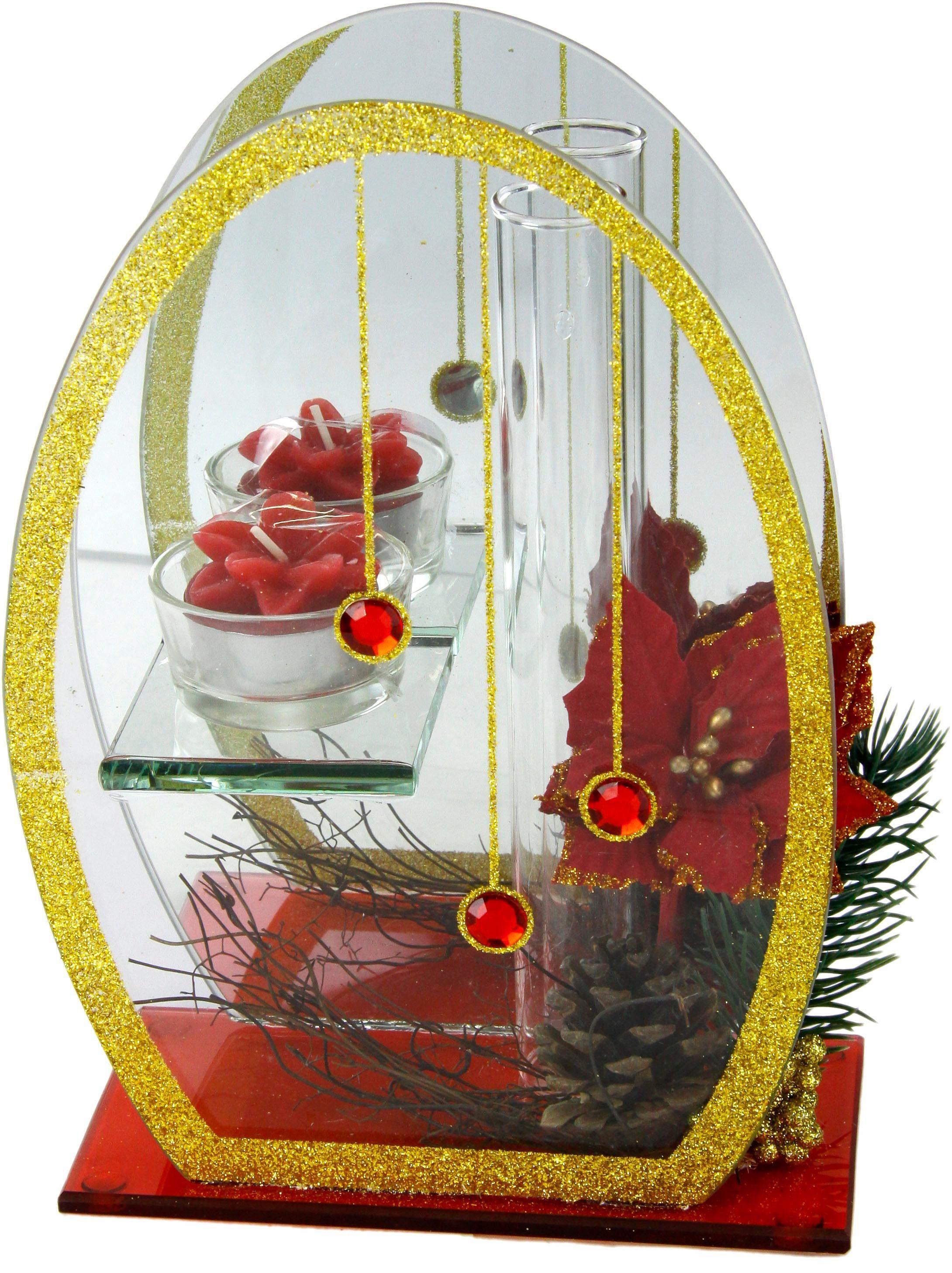 Home affaire Teelichthalter mit Spiegel