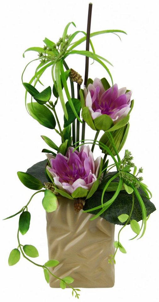 Home affaire Kunstblume »Seerose« im Topf in lavender
