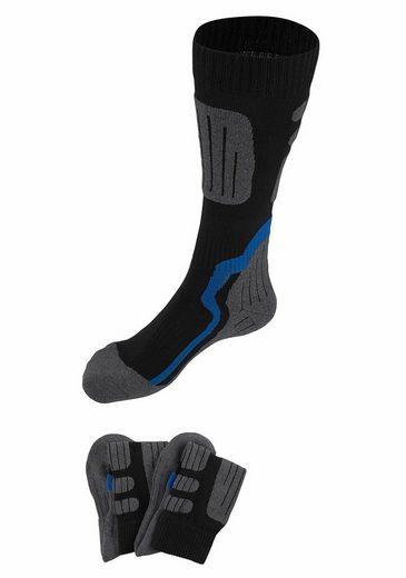 GO IN Gepolsterte Kniestrümpfe (2 Paar) ideal für Wintersportaktivitäten