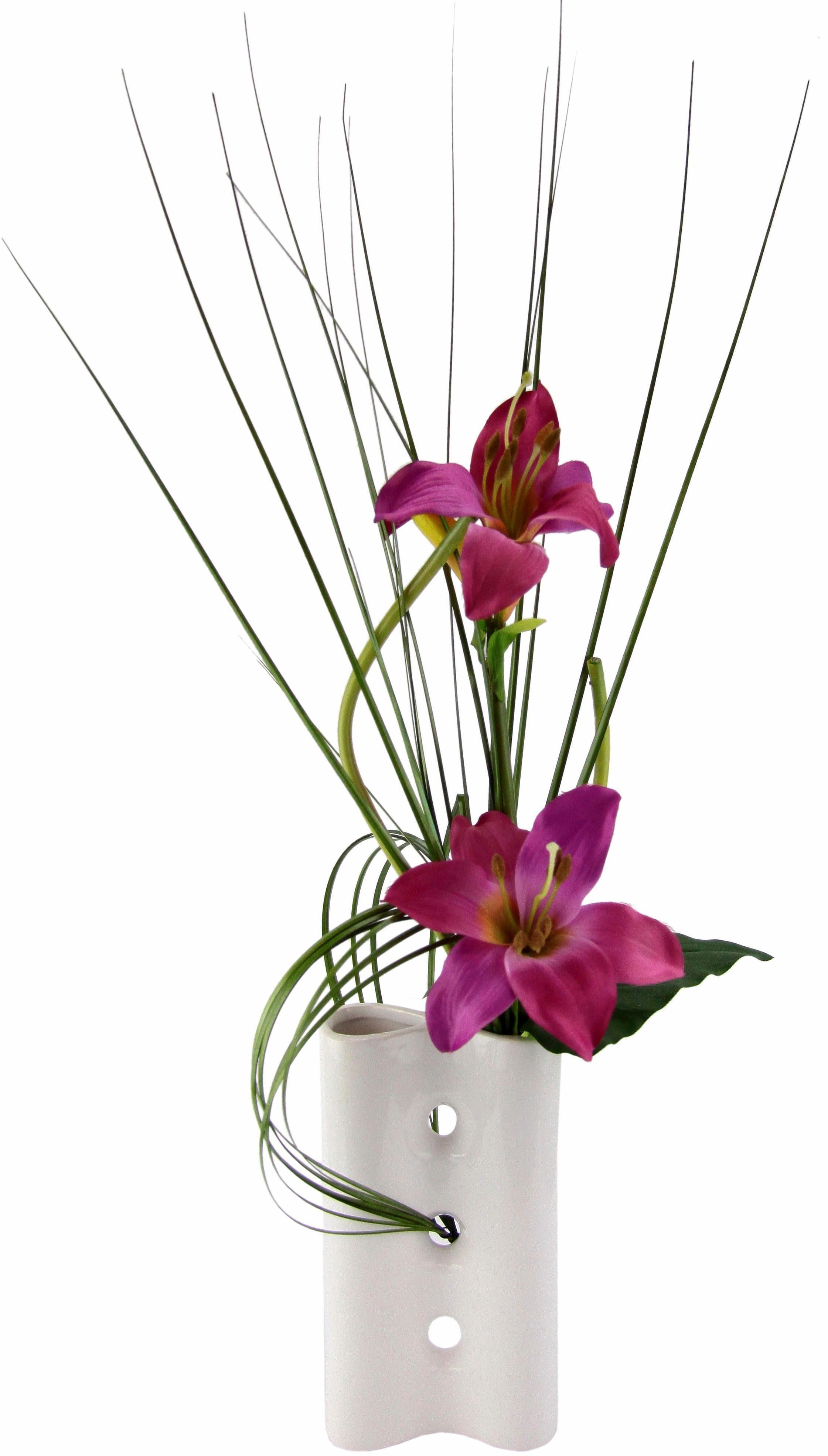 Home affaire Kunstblume »Lilien« in Vase