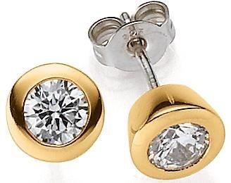 VIVENTY Paar Ohrstecker »773734« mit Zirkonia in Silber 925-goldfarben