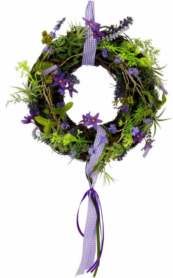 Home affaire Kranz »Lavendel/Blüten« in violett
