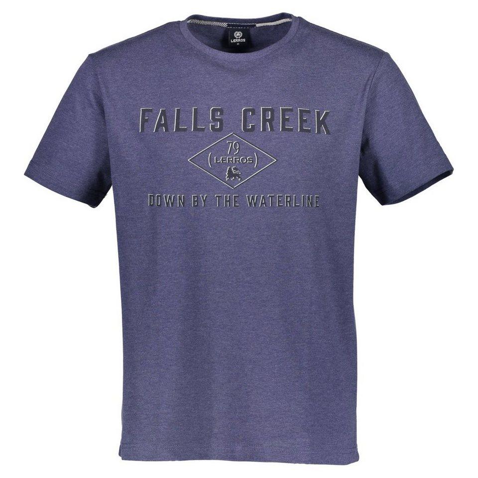 LERROS T-Shirt mit Print in DENIM BLUE