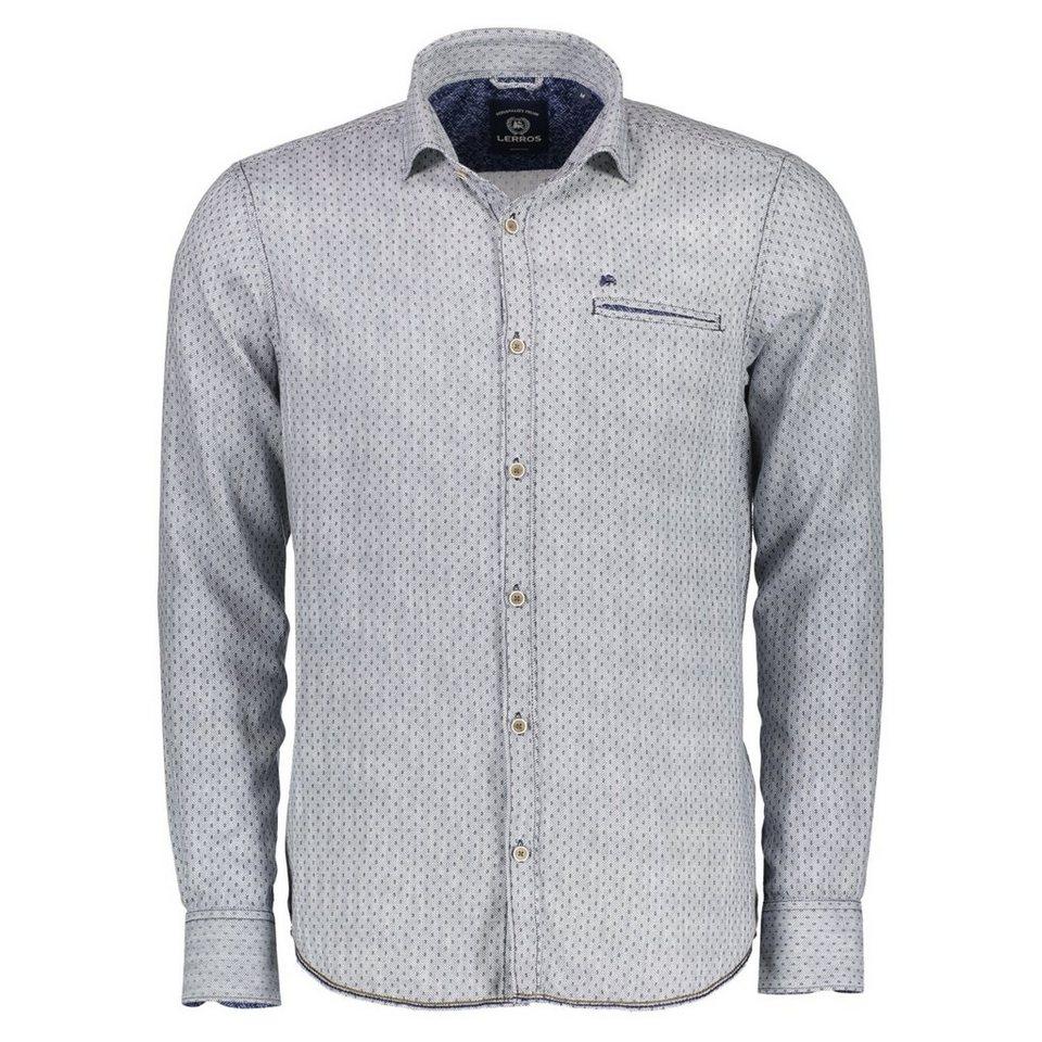 LERROS Langarmhemd mit Kent-Kragen in NAVY