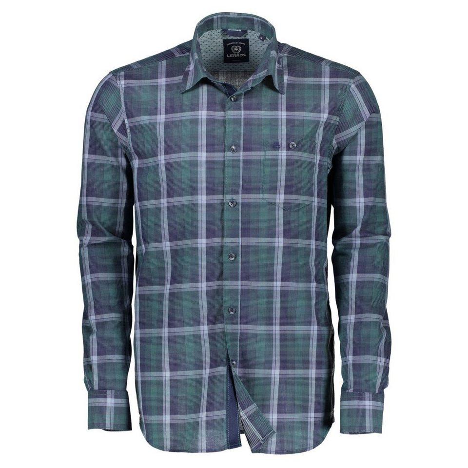 LERROS Karo-Langarmhemd in GREEN