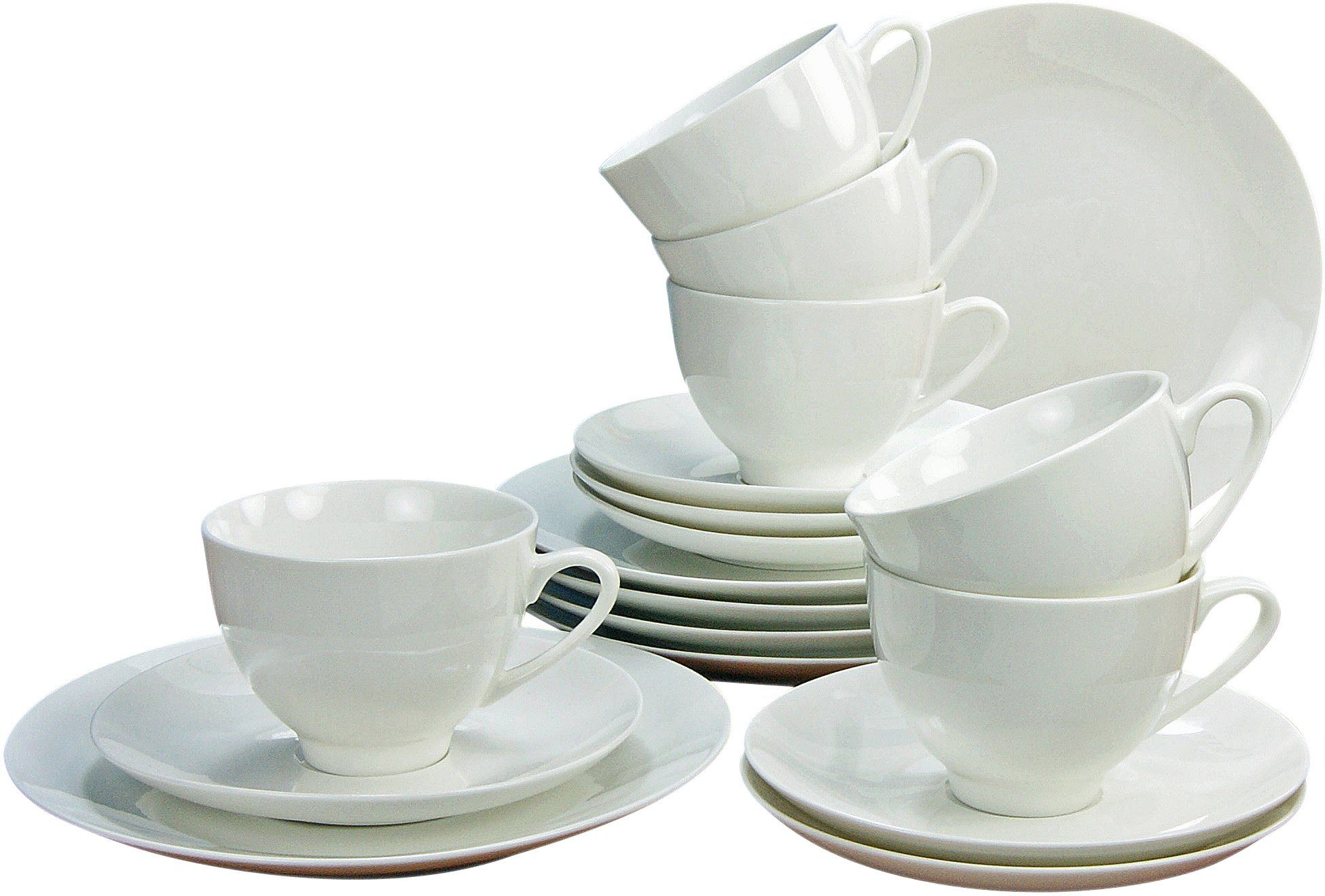 CreaTable Kaffeeservice »CAPRICE« (18-tlg), Porzellan, Mikrowellengeeignet