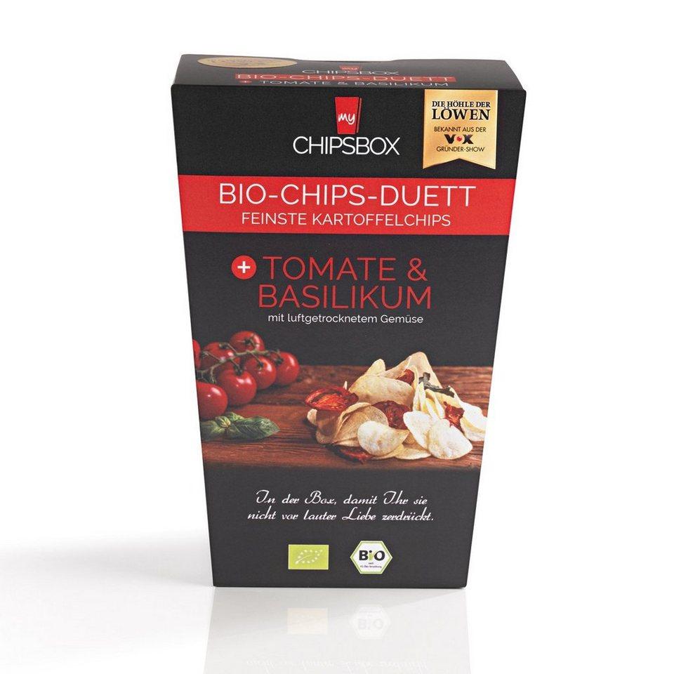 My Chipsbox Bio-Chips-Duett Tomate-Basilikum, 6er-Set je 90 g