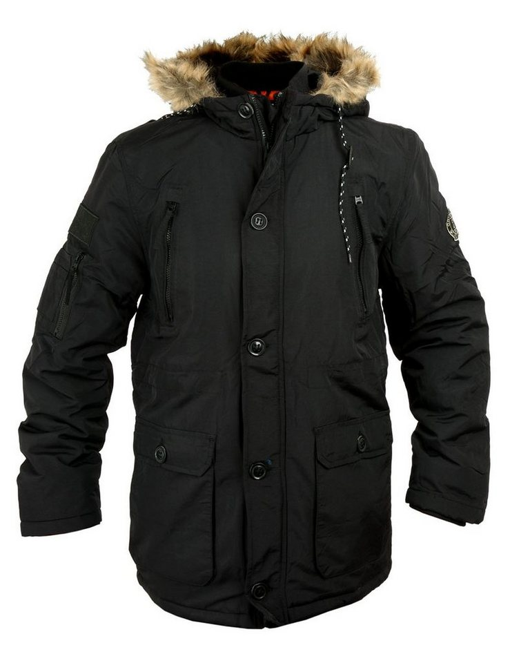 CROSSHATCH Winterjacke »Killborn« in schwarz