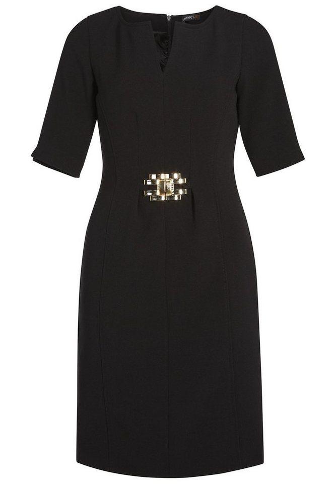 Apart Elegantes Kleid Rundhals in schwarz