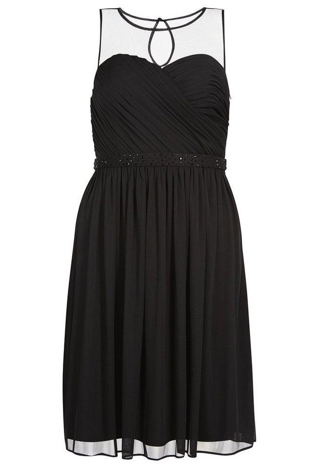 Apart kurzes Abendkleid Rundhals in schwarz